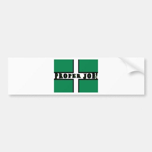 Proper Job - Devon Bumper Stickers