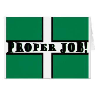 Proper Job - Devon Card