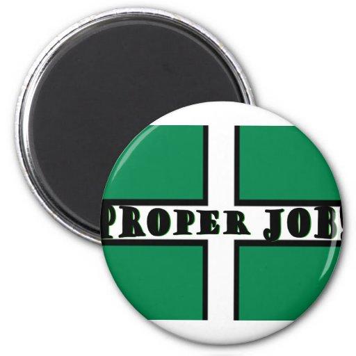 Proper Job - Devon Fridge Magnet