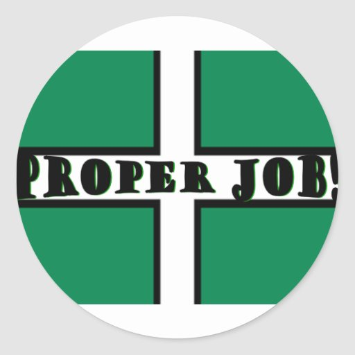 Proper Job - Devon Sticker