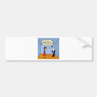 Proper Qualifications ~ hilarious funny comics Bumper Sticker