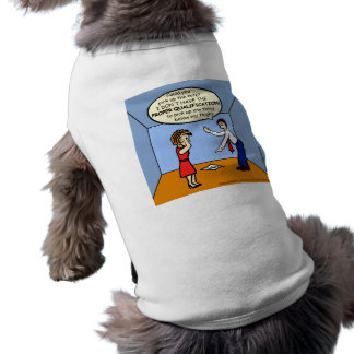 Proper Qualifications ~ hilarious funny comics Sleeveless Dog Shirt