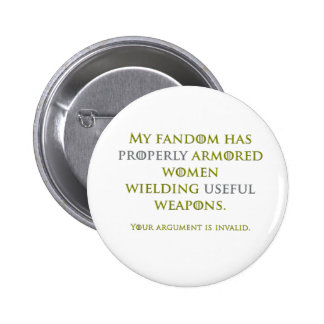 Properly Armored Women 6 Cm Round Badge