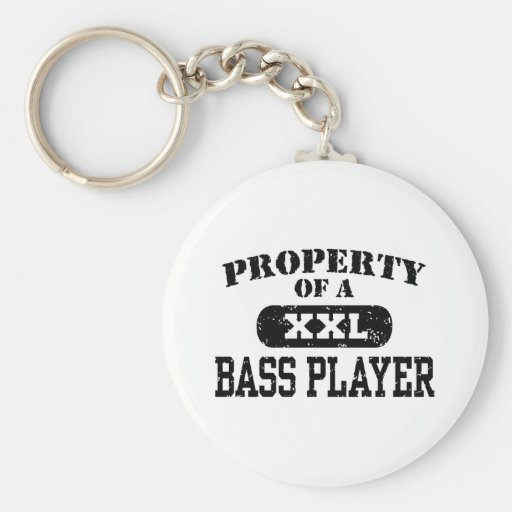 Property of a Bass Player Basic Round Button Key Ring