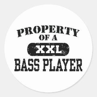 Property of a Bass Player Sticker
