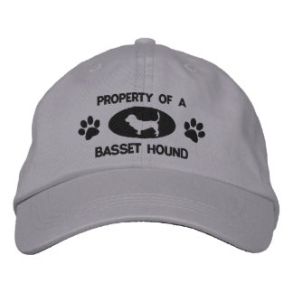 Property of a Basset Hound Embroidered Hat