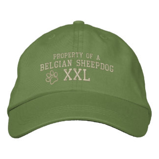 Property of a Belgian Sheepdog Embroidered Hats