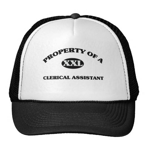 Property of a CLERICAL ASSISTANT Hat