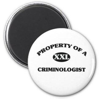 Property of a CRIMINOLOGIST 6 Cm Round Magnet