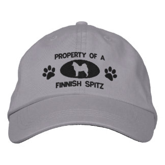 Property of a Finnish Spitz Embroidered Hat
