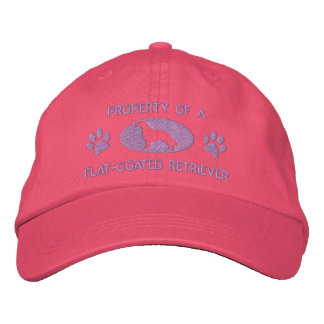 Property of a Flat-Coated Retriever Embroidered Baseball Caps