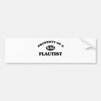 Property of a FLAUTIST Bumper Sticker
