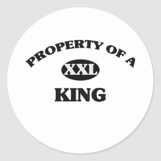 Property of a KING Round Stickers