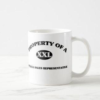 Property of a MEDICAL SALES REPRESENTATIVE Mugs