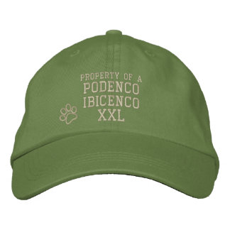 Property of a Podenco Ibicenco Hat Embroidered Baseball Cap