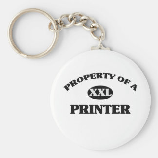 Property of a PRINTER Keychains