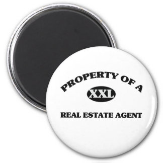 Property of a REAL ESTATE AGENT 6 Cm Round Magnet
