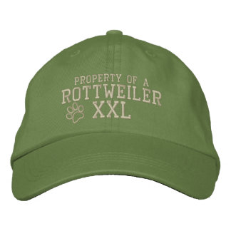 Property of a Rottweiler Embroidered Hat