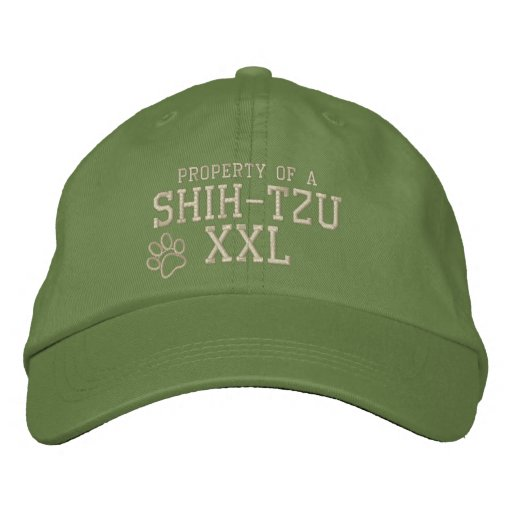 Property of a Shih Tzu Embroidered Hat