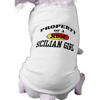 Property of a Sicilian Girl Sleeveless Dog Shirt