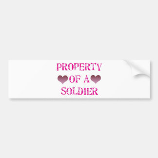 Property of a Soldier Bumper Sticker