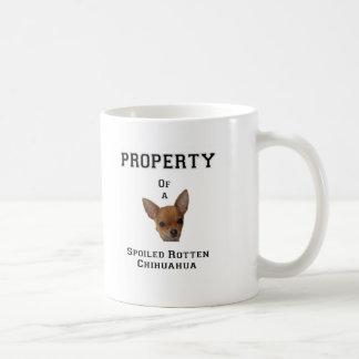 Property of a Spoiled Rotten Chihuahua Basic White Mug