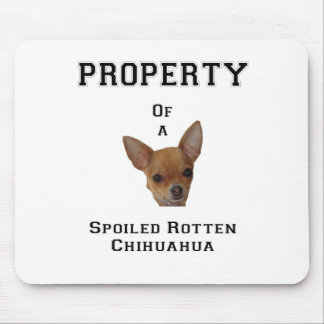 Property of a Spoiled Rotten Chihuahua Mouse Pad