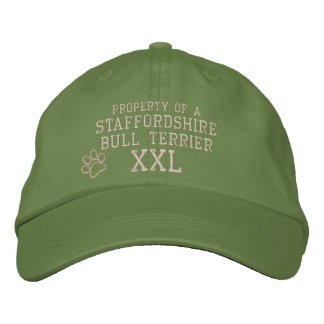 Property of a Staffordshire Bull Terrier Embroidered Cap