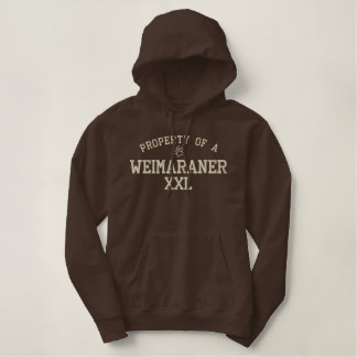 Property of a Weimaraner Women's Embroidered Hoodie