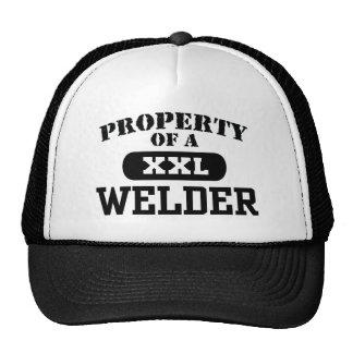 Property of a Welder Trucker Hats