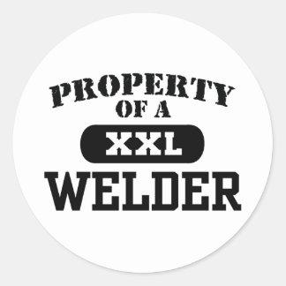 Property of a Welder Round Sticker