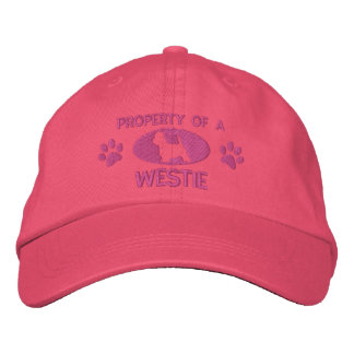 Property of a Westie Embroidered Hat Pink