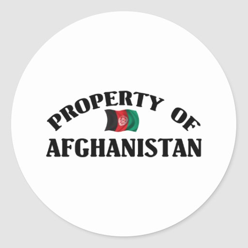 Property Of Afghanistan Round Stickers