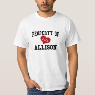 Property of Allison T-Shirt