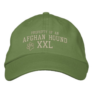 Property of an Afghan Hound Embroidered Hat Embroidered Hat