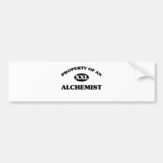 Property of an ALCHEMIST Car Bumper Sticker