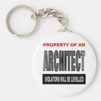 Property Of An Architect Key Ring