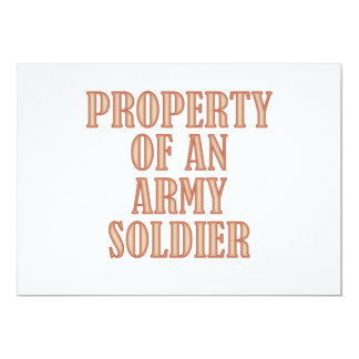 Property of an Army Soldier (tan) 13 Cm X 18 Cm Invitation Card