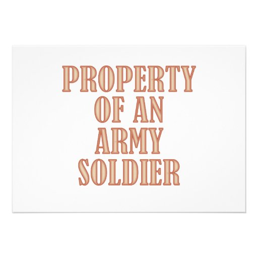 Property of an Army Soldier (tan) Custom Invite