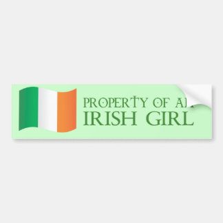 Property of an Irish girl Bumper Stickers