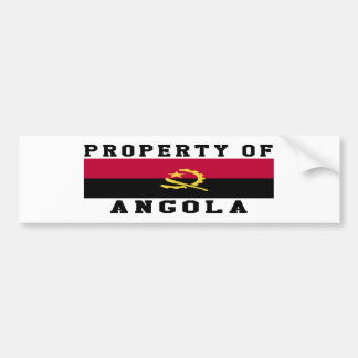Property Of Angola Bumper Sticker