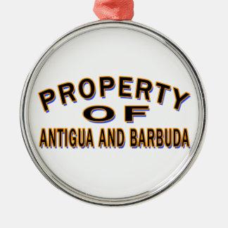 Property Of Antigua and Barbuda Christmas Tree Ornament