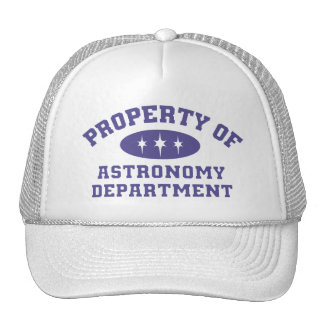Property Of Astronomy Department Mesh Hats