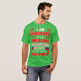 Property Of Awesome Liechtensteiner Wife Bought T-Shirt