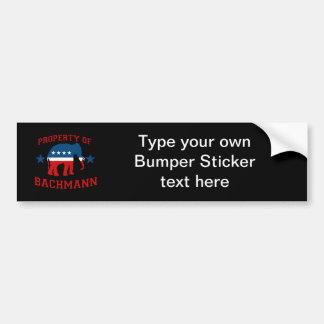 PROPERTY OF BACHMANN BUMPER STICKER