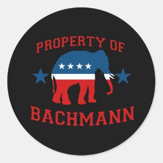 PROPERTY OF BACHMANN ROUND STICKER