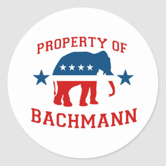 PROPERTY OF BACHMANN ROUND STICKERS