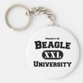 Property of Beagle University Basic Round Button Key Ring