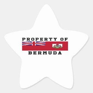 Property Of Bermuda Star Sticker