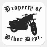 Property Of Biker Dept Motorcycle Stickers
